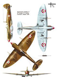Supermarine Spitfire Mk V Aviazione del Regno del Sud (1944) 20°Gruppo 51° Stormo, Leverano