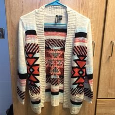 Aztec cardigan Only worn once, the arms shrunk up too much. Excellent condition. Size xl in KIDS. Would fit an xs in adult Tilly's Sweaters Cardigans