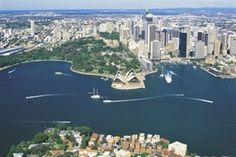 A bird's eye view of Sydney ~ Travelscene.com ~ Australia Travel Experts