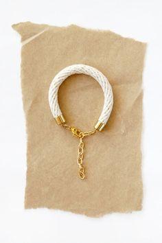 Rope Bracelet by HearsayDesigns on Etsy