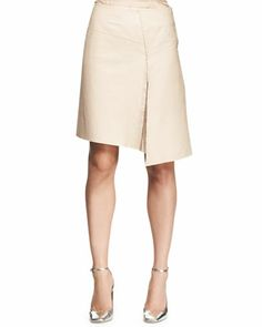 Asymmetric Leather Slit Skirt by Reed Krakoff at Neiman Marcus.