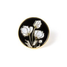 Flower Motif Lapel Pin