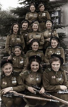 Soviet snipers 1945 | Flickr - Photo Sharing!