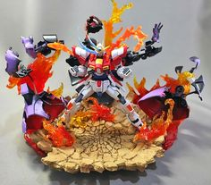 HG 1/144 Build Burning Gundam 'Episode 1' Cast Off - Diorama Build