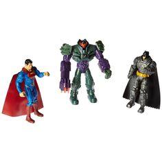 """Batman, Superman, Lex Luthor in Mech Suit- 6"""" Basic Figure 3 Pack - Batman Vs Superman - Mattel"""