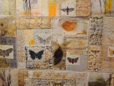 Here a Dutch artist Gabi Mett used a  combination of mixed media, including tea bags, to create this unusual quilt.