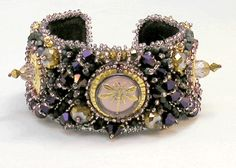 bead embroidery cuff - Google Search