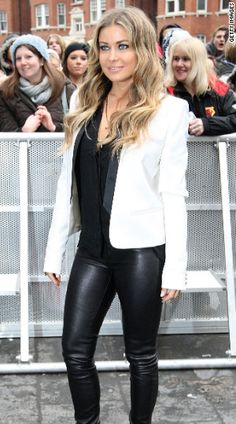 White Blazer, Check! Black Shirt, Check! Leather-ish Bottoms, Check!