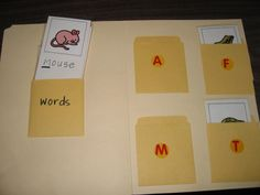 Beginning sound sort (consider doing without text on picture cards.