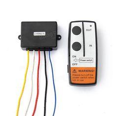 [US$9.99] 50ft Wireless Winch Remote Control Kit For Jeep ATV SUV UTV 12V Switch Handset #50ft #wireless #winch #remote #control #jeep #switch #handset