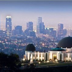 Griffith Observatory overlooking Downtown Los Angeles