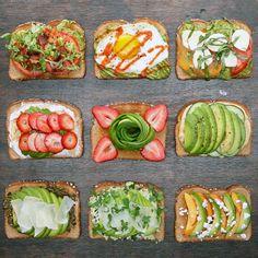 Avocado Toast 9 Ways by Tasty Healthy Breakfast Recipes, Brunch Recipes, Healthy Snacks, Healthy Recipes, Avocado Recipes, Dinner Healthy, Eating Healthy, Diet Recipes, Clean Eating