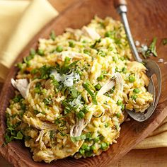 Risotto with Chicken and Spring Peas From Better Homes and Gardens, ideas and improvement projects for your home and garden plus recipes and entertaining ideas.