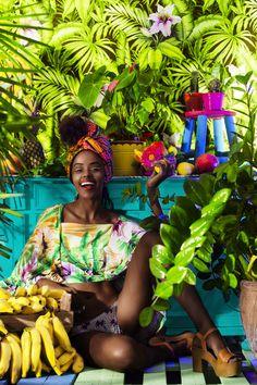 Tropical style, very fruity. Estilo Tropical, Moda Tropical, Tropical Style, Tropical Vibes, Tropical Fashion, Colorful Fashion, Retro Fashion, Cuba Fashion, Petite Fashion