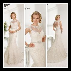 Lace gown with buttons down the illusion back.