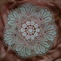 wild cherry blossom center crochet edging knitted lace