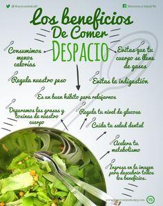 LOS BENEFICIOS Y LA IMPORTANCIA DE COMER DESPACIO Los beneficios de comer…