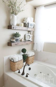 Great way to deal With that weird space! \DIY Floating Shelves just like the ones from Fixer Upper! Make 2 of these for\