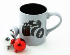 SALE Large mug with camera great gift for photographer by LennyMud, $10.00