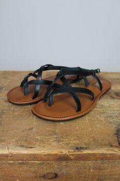 Black Criss Cross Sandals | Lily & Sparrow Boutique