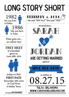 Save the Date Timeline https://www.etsy.com/shop/DesignsbyWhitneyF