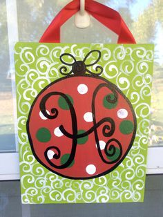 8x10 Christmas Ornament Canvases by AudrieKateDesigns on Etsy