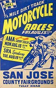 San Jose County Fairgrounds Motorcycle Races Ad Fine Art Print