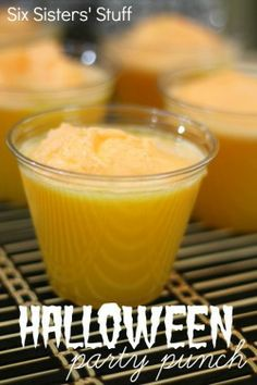 Halloween Orange Party Punch--Easy and festive punch for your Halloween or fall party.
