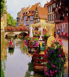 Colmar is #commune in France with many attractions like half-timbered houses, canals, and the flower-decked town center, etc. #Travel in France with confidence when you grab a copy of the MOST COMPLETE French travel phrasebook available. With more than 2,000 words and phrases for all kinds of travel scenarios. Plus free audio, menu reader, cultural guide, and pronunciation guide. Get it here: https://store.talkinfrench.com/product/french-phrasebook/