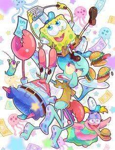 spongebob THE KRUSTY KRAB!!カニカーニのみなさん