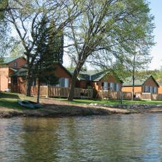 Campfire Bay Resort - Cushing, MN:  Self-service private retreats accommodating 4 to 20 guests.