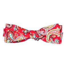 Our J. Bailey Coral Paisley Bow Tie is an island favorite. Details: 100% Cotton Adjustable...
