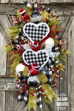 Door Wreaths, Front Door Wreaths, Wreaths for Door by BaBamWreaths Wreaths For Front Door, Door Wreaths, Holiday Decorations, Holiday Crafts, Hobby Lobby Crafts, Whimsical Christmas, Mesh Ribbon, Trendy Tree, Wreath Tutorial