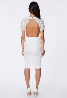 Claudia Lace Open Back Midi Dress - Missguided $34.20