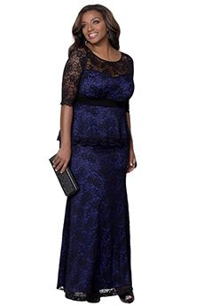 A-Line/Princess Scoop Floor-length Lace Mother of the Bride Dress