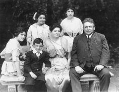 The William J. Gallagher family of San Francisco: Alice, William J., Jr., Mary Maloney, William J., Sr.; standing –Madeline and Theresa. Photo contributed by member Pat Gallagher.
