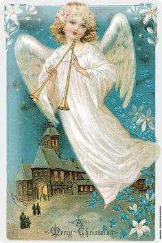 Kerst Engel kerst-postkaart vintage lb xxx.