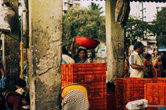Abhishek Amin photographs fish vendor portrait in sassoon dock