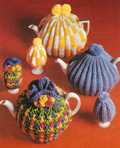 Knitting Pattern Traditional Tea egg Cosy cozy vintage