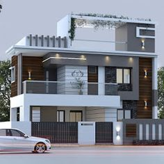House Gate Design, Kerala House Design, House Front Design, Modern House Design, Building Elevation, House Elevation, West Facing House, Double Storey House, Front Elevation Designs