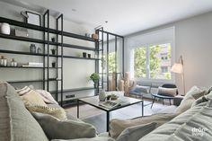 #Balmes #interiorDesign #DrömLiving #DiseñoMobiliario #DiseñoAMedida #IndustrialStyle Interior Exterior, Interiores Design, Shelving, Divider, Living Room, Totalement, Barcelona 2017, Furniture, Home Decor