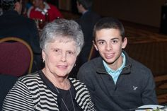 This is a picture of Mike Minor's beautiful mother, Mary Ann Minor and his oldest son, Gavin.
