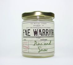 Candle inspired by the fae prince, Rowan Whitethorn. Swoon worthy <3 Scent of Pine and Snow.