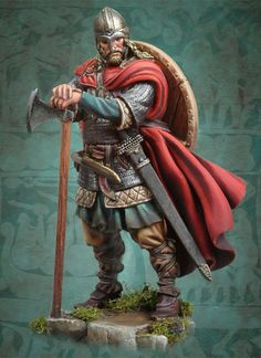 Viking Raider 793 A.D. SV-01 54 mm 1/32 | The Vikings | Miniaturas Andrea | Andrea Europe