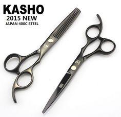 Japan kasho 6inch profissional hairdressing scissors hair cutting scissors set barber shears thinning tijeras high quality 2015