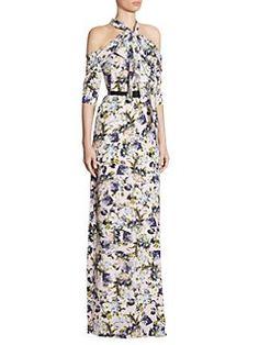 Erdem - Annaliese Floral Silk Gown