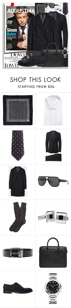 """Man of Style: Simon Baker"" by coraline-marie ❤ liked on Polyvore featuring Polaroid, Dolce&Gabbana, MICHAEL Michael Kors, Bottega Veneta, Paul Smith, Brooks Brothers, Bulgari, Cartier, men's fashion and menswear"