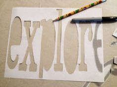unbelievably easy to make framed burlap words mpinterestparty, crafts, home decor, living room ideas, All I did was print out a word that I liked and cut it out Easy easy