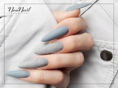 Szare paznokcie hybrydowe / NeoNail Sns Nails, Manicure, Nails Inspiration, Nail Designs, Make Up, Nail Art, Twiggy Style, Tattoos, Beauty