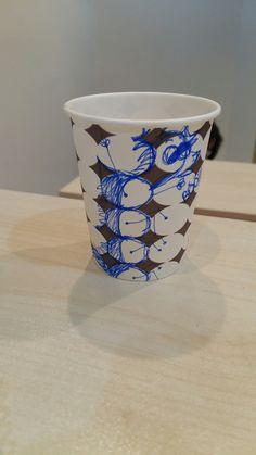 Art on Cups,  bardakta çizim,  sevimli canavar,